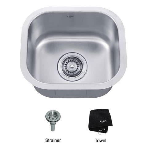 menards stainless steel utility sink kraus kbu17 15 inch undermount single bowl 18