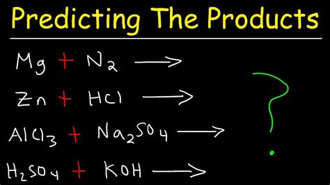 Predicting The Products Of Chemical Reactions  Chemistry Examples And Practice Problems Youtube