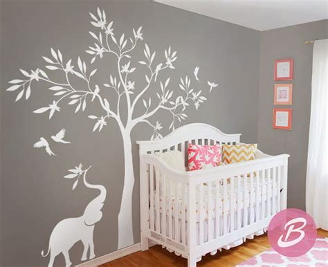 stickers arbre chambre bébé awesome stickers arbre blanc chambre bebe gallery