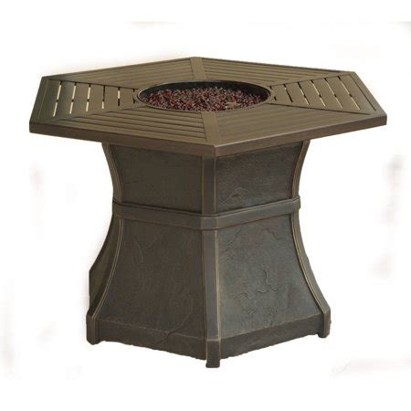 gas pit tables cambridge hexagonal high top gas pit table walmart