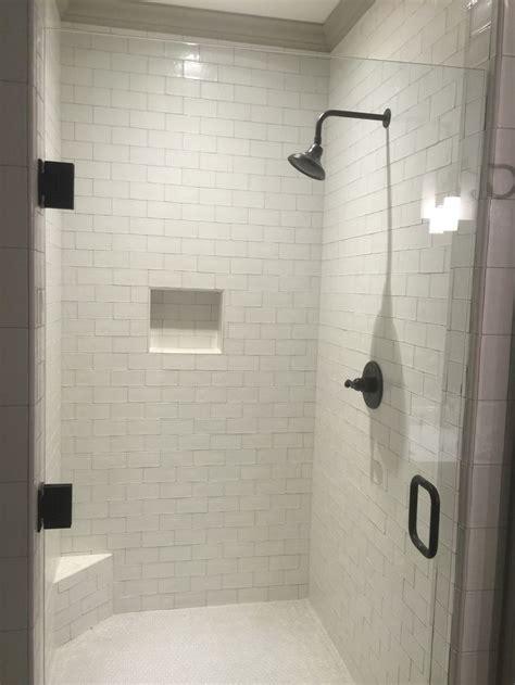 master shower  nanda soft white subway tile  house