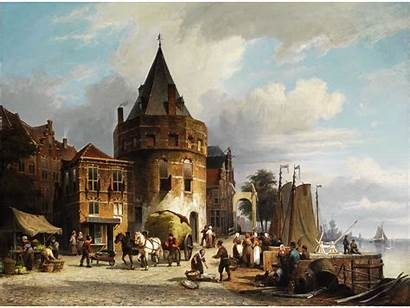 Koekkoek Willem Amsterdam Schreierstoren Painting Wikimedia Eeuw