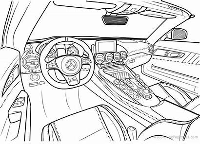 Mercedes Coloring Amg Interior Gt Benz Roadster