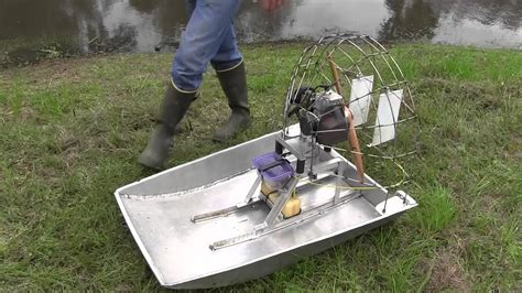 Rc Fan Boat Plans by Rc Air Boat Big Gas Power Bult