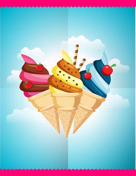 ice cream poster background ice cream dessert