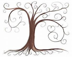 thumbprint tree guestbook and trees on pinterest With friendship tree template