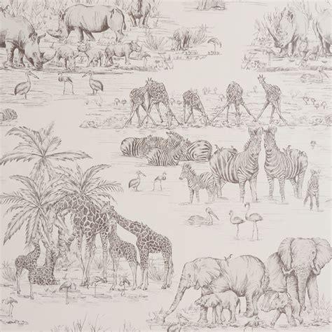 Animal Wallpaper B Q - colours watering animal safari metallic