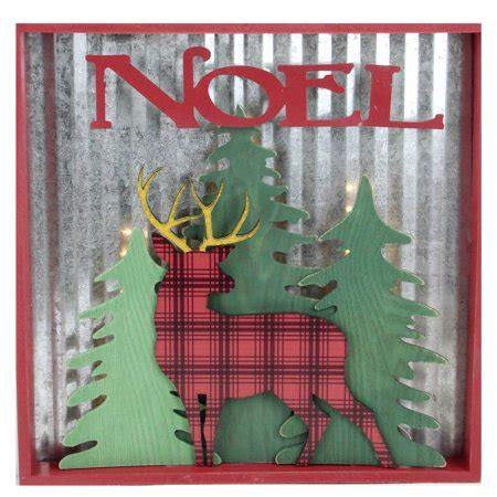 lighted reindeer noel christmas wall decoration