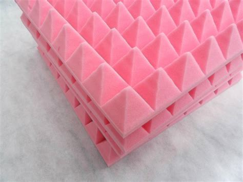 pink colour pyramid acoustic panelhigh effective