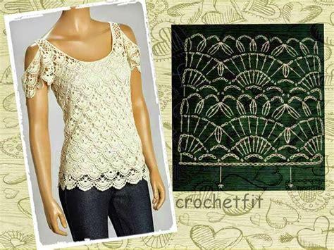 blusa elegante con hombros descubiertos todo crochet