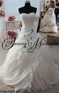 Robe De Mariée Originale : robe de mariee princesse originale volant organza bustier ~ Nature-et-papiers.com Idées de Décoration
