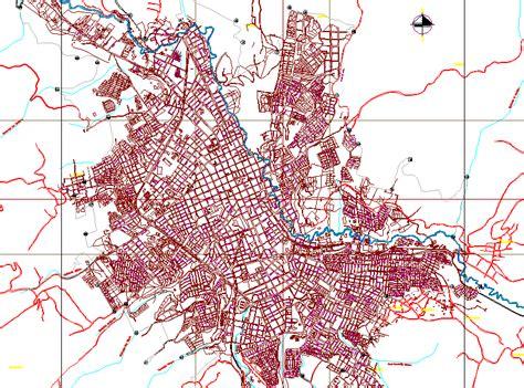 communes plano san juan de pasto colombia dwg block