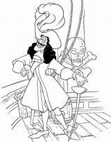 Hook Captain Coloring Peter Pirate Enemy Pans Pan Wendy Map Coloringsky sketch template