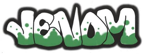 artwork web alphabet graffiti venom style