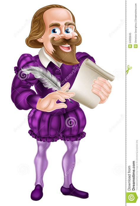 cartoon shakespeare stock vector image