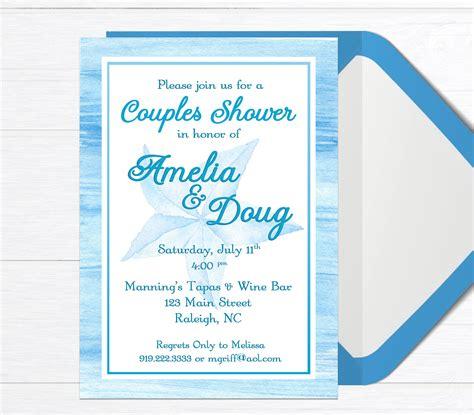 Couples Shower Invitation Tropical Bridal Shower Couples