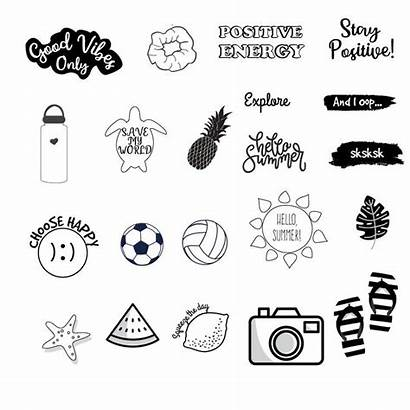 Stickers Vsco Printable Sticker Aesthetic Coloring Drawing