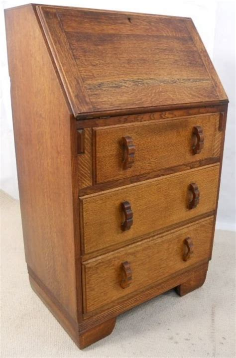 small solid oak writing bureau desk 154305 sellingantiques co uk