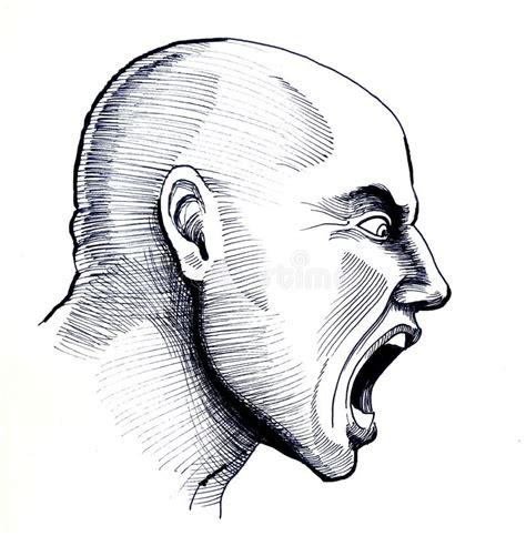 shouting man stock illustration illustration
