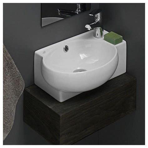 white porcelain kitchen sink bathroom sinks corner ceramic white mini wall mount 1859