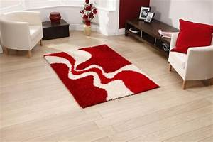 Tapis Shaggy Rouge : tapis shaggy style et confort dans espace maison 23 photos ~ Teatrodelosmanantiales.com Idées de Décoration