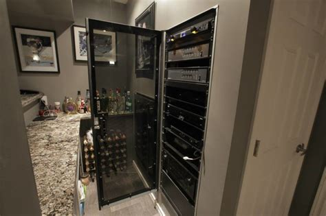 basement home theatre traditional wine cellar