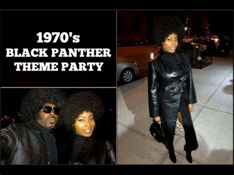 VLOG #17 | 1970u201ds Theme BLACK PANTHER PARTY | Adult Costume Party! - YouTube