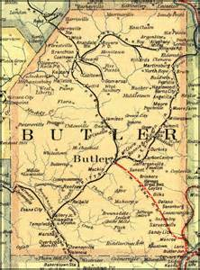 Butler County PA Road Map