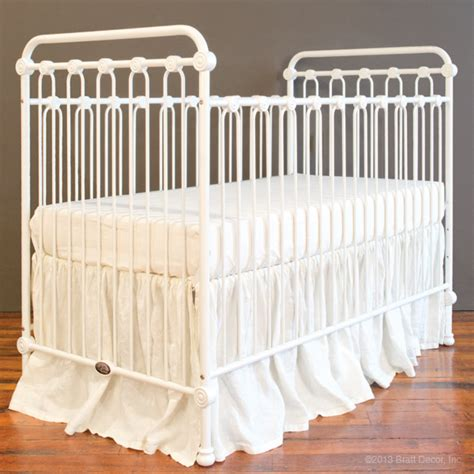 Bratt Decor Crib Satin White baby crib satin white