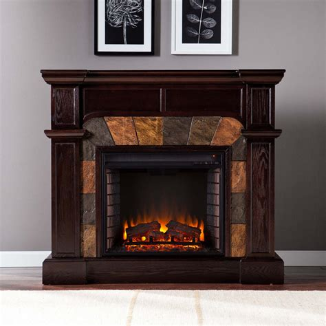 rustic electric fireplaces  portable fireplace