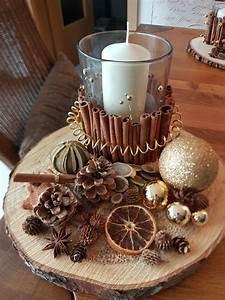 Basteln Mit Baumscheiben : adventsgesteck mit einer baumscheibe baumscheiben deko ~ Watch28wear.com Haus und Dekorationen