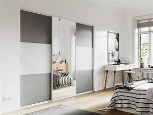 portes de placard coulissantes de chambre sur mesure With porte d entrée alu avec miroir salle de bain éclairant