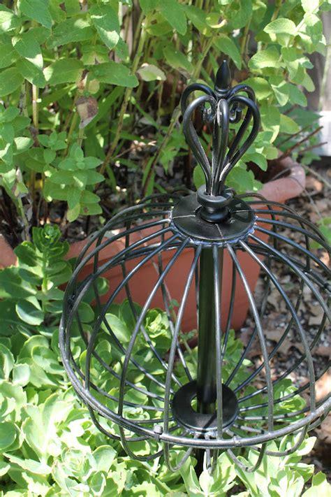 metal garden orb tallgrass design repurposed garden orb