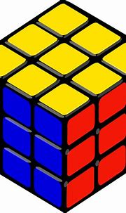 Rubik's cube vector clip art | Free SVG