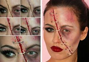 Schminken Zu Halloween : 13 originelle halloween gesichter schminken mit anleitungen ~ Frokenaadalensverden.com Haus und Dekorationen