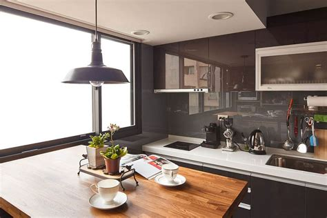 Small Modern Industrial Apartment by Tiny Industrial Loft Style Apartment In Taipei City