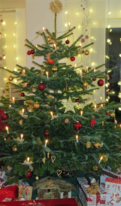 Weihnachtsbaum Rot Silber Geschmückt by Weihnachtsbaum Frisch Halten Der Wohnsinn