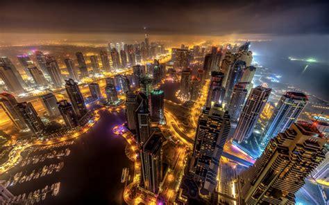 Dubai Fantastic Hd Wallpaper Night Lighting Streets, Roads
