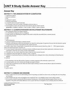 Unit 9 Study Guide Answer Key