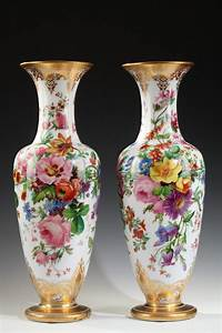 Beautiful, Pair, Of, Opal, Glass, Vases, Attributed, To, Baccarat, For, Sale, At, 1stdibs