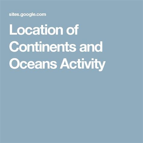 best 25 continents and oceans ideas on