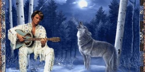 le loup lanimal qui colle  la peau de johnny hallyday