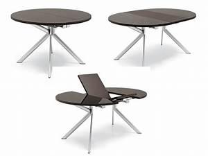 Tables Rondes Extensibles : 738 table ronde rallonge plaateau en verre 120 cm de diam tre sediarreda ~ Teatrodelosmanantiales.com Idées de Décoration