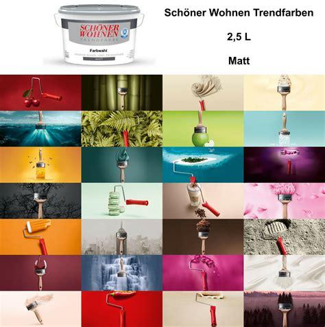 schoener wohnen trendfarbe matt  wandfarbe farbwahl