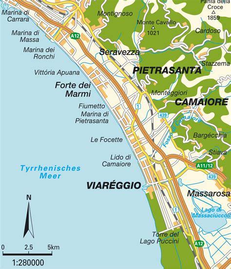 mappa toscana costa toscana italia mappe  itenerari da