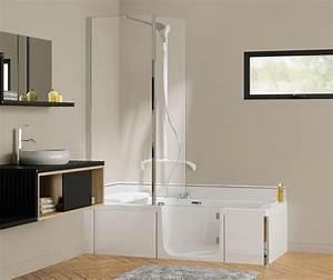 Prix Baignoire Avec Porte : en vente kineduo 180x80 baignoire douche 2 en 1 kinedo ~ Edinachiropracticcenter.com Idées de Décoration
