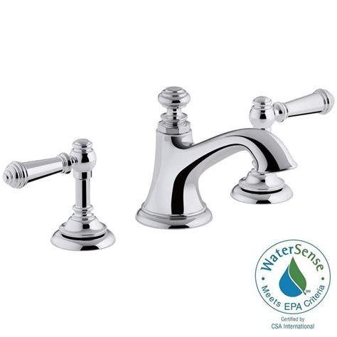 kohler kitchen faucets home depot kohler artifacts 8 in widespread 2 handle bell design