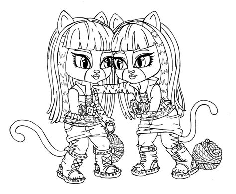 Baby Monster High Coloring Page