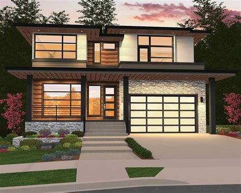 modern home plan   master suites ms