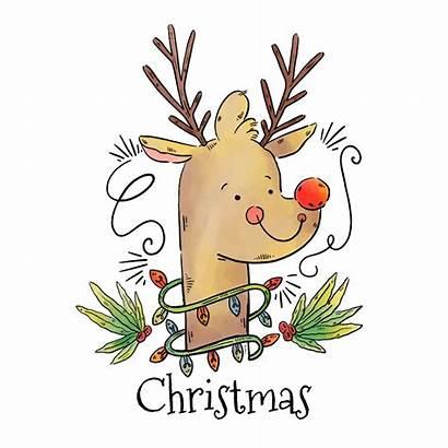 Reindeer Rudolph Nosed Clipart Rudolf Rednosed Vectorified